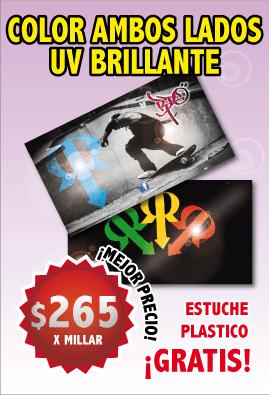 Impresion de tarjetas de presentacion gratis estuche mexico color ambos lados