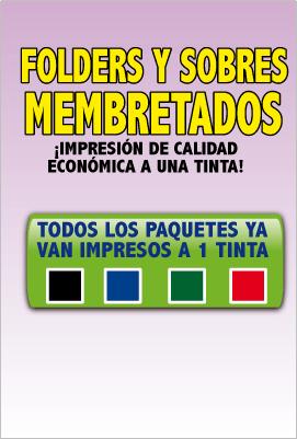 titulo folders y sobres impresos en mexico